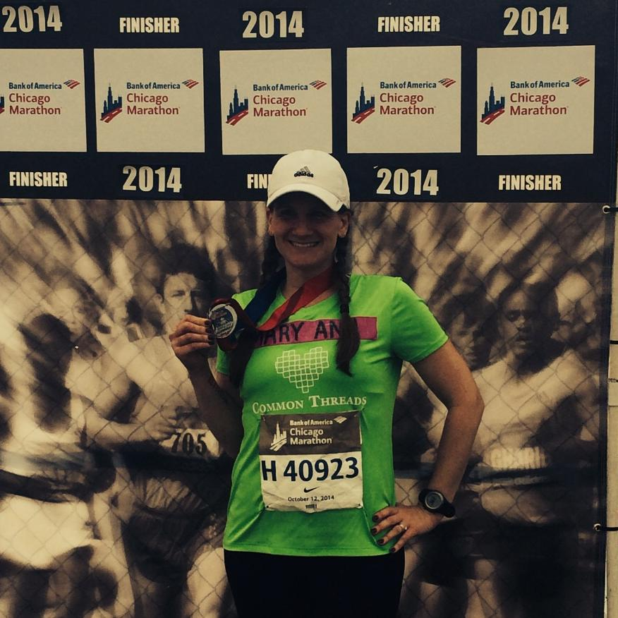 2014 chicago marathon finisher pic